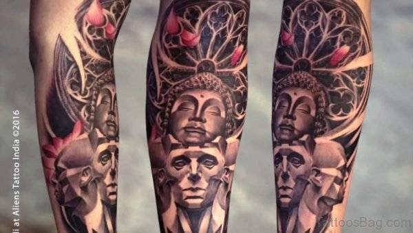 Traditional Buddha Tattoo