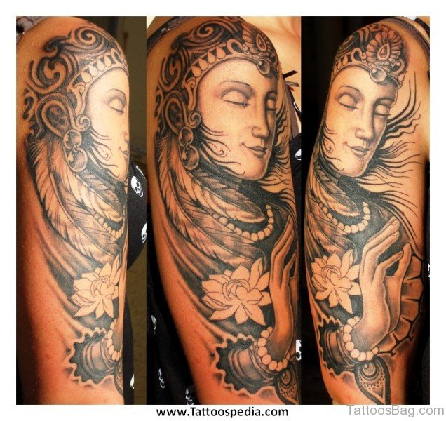 55 New Style Buddha Tattoo On Full Sleeve: 46 Best Buddha Tattoos On Full Sleeve