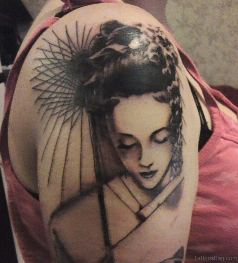 65 graceful geisha tattoos on shoulder - Tattoos geishas japonesas ...