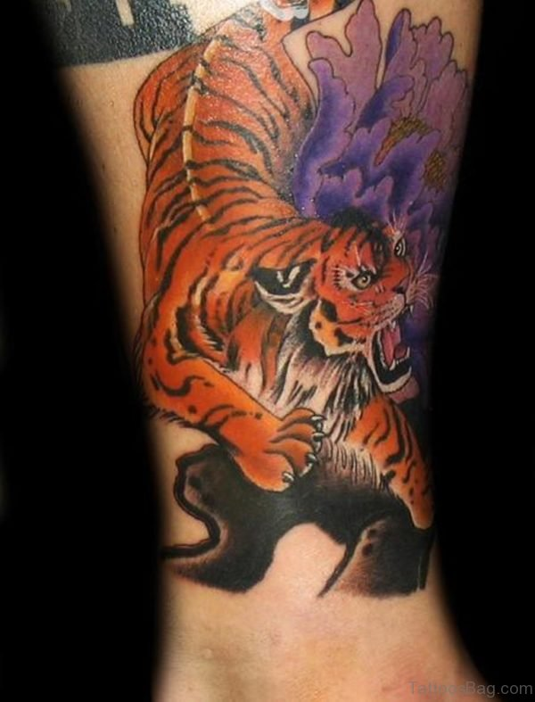 40 clean tiger tattoos for leg for Panther tiger tattoo