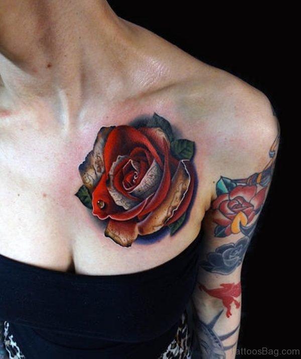 Treasure Map Rose Tattoo