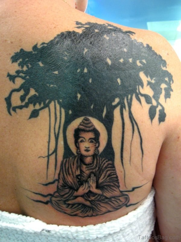 Tree And Buddha Tattoo