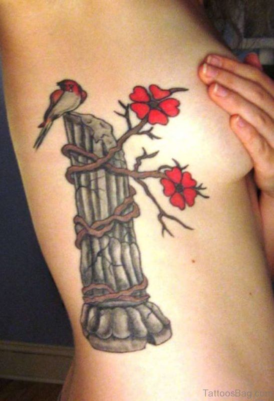 Tree And Rose Tattoo