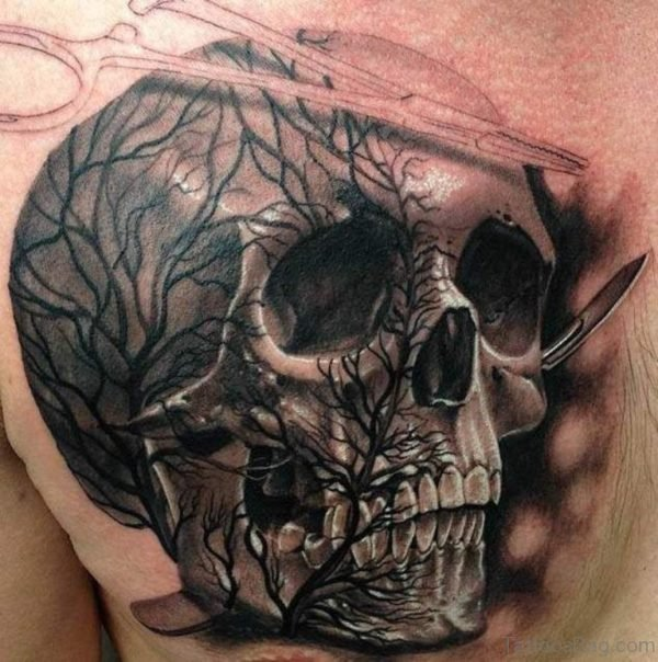 Tree And Skull Tattoo