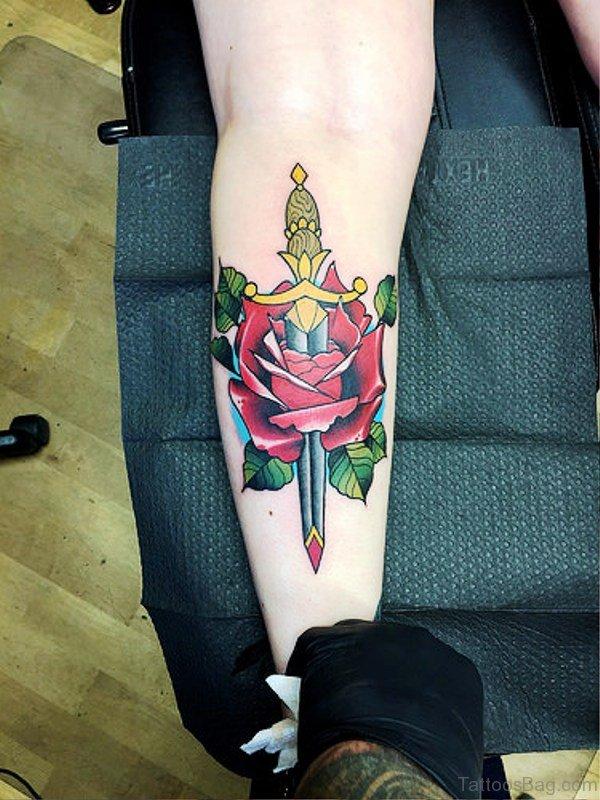 Tremendous Dagger Tattoo Design