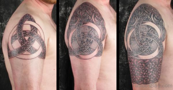 Trendy Celtic Tattoo On Shoulder
