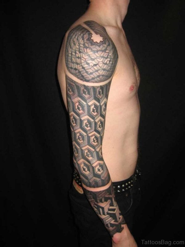 Trendy Full Sleeve Tattoo