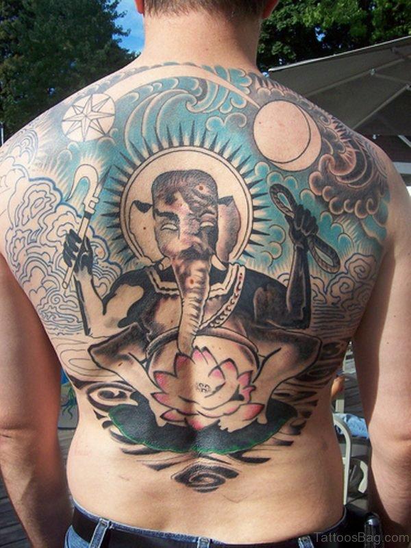 Trendy Ganesha Tattoo