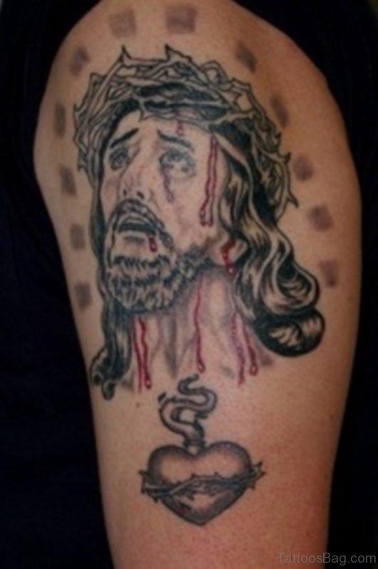 Trendy Jesus Tattoo