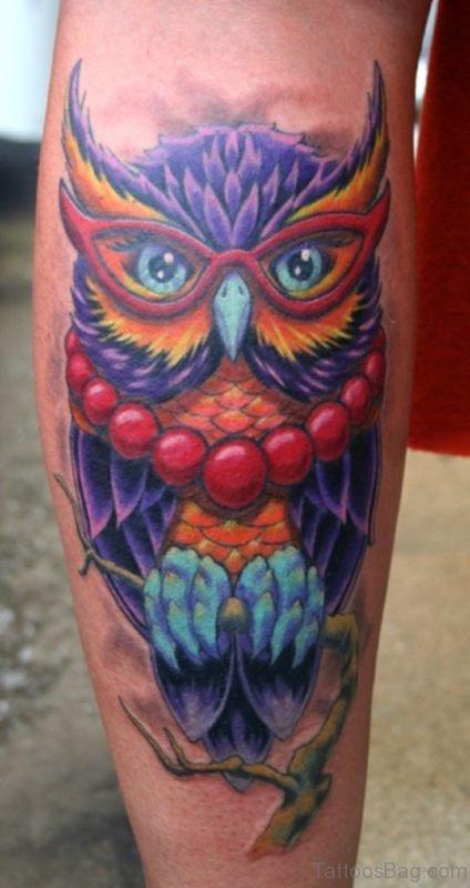 Trendy Owl Tattoo