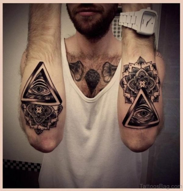 Triangle Eye And Mandala Tattoo