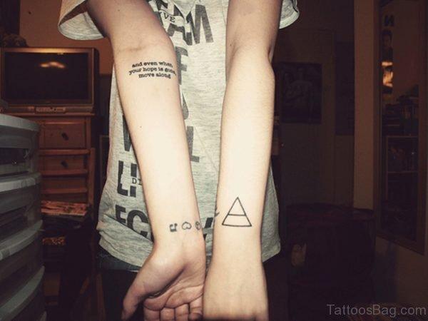 Triangle Tattoo Design On Wrist