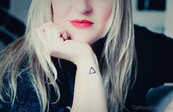 Triangle Tattoo On Wrist