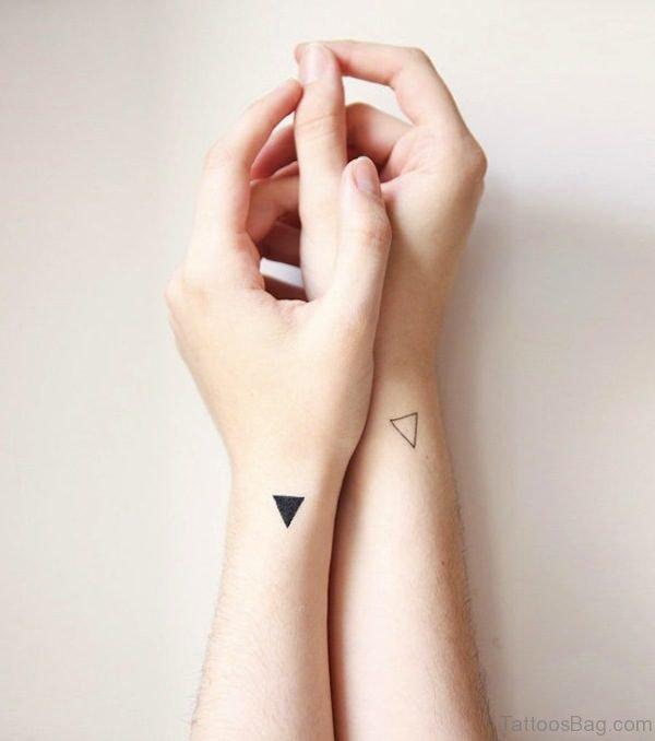 Triangle Tattoos On Both Wrist