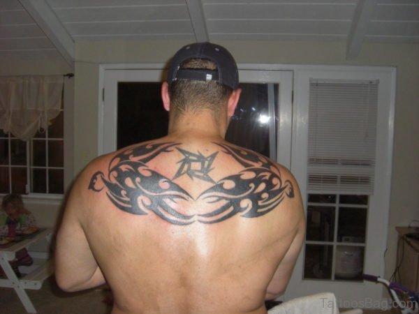 Tribal Bird Tattoo On Back