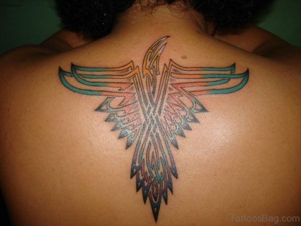 Tribal Eagle Tattoo On Back