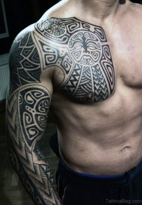 Tribal Full Sleeve Tattoo For Men