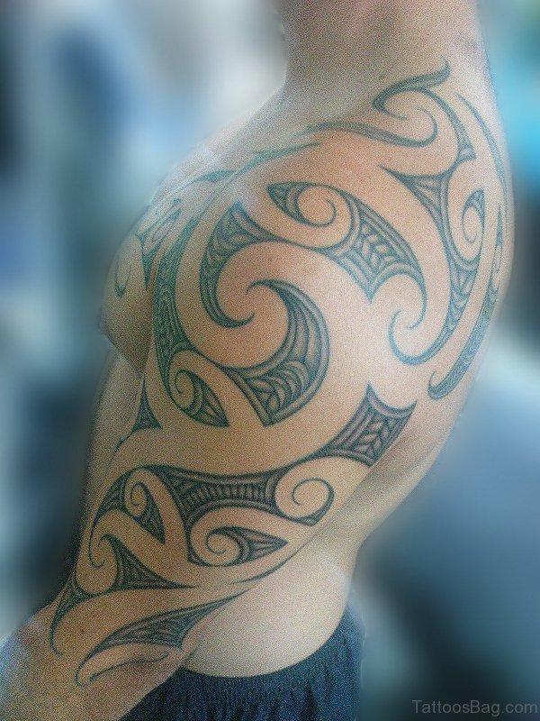 Tribal Half Sleeves Designer Shoulder Tattoo