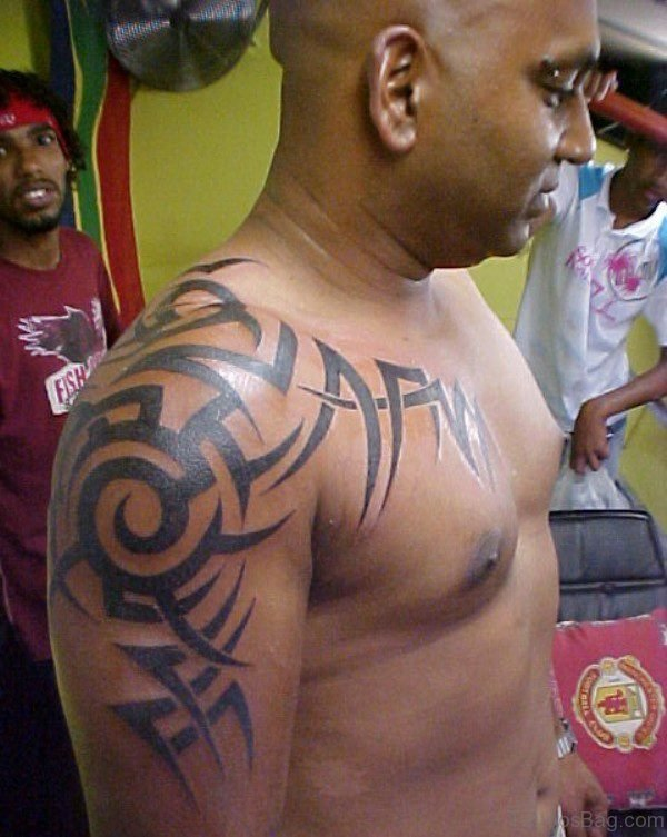 Tribal Half Sleeves Shoulder Tattoo