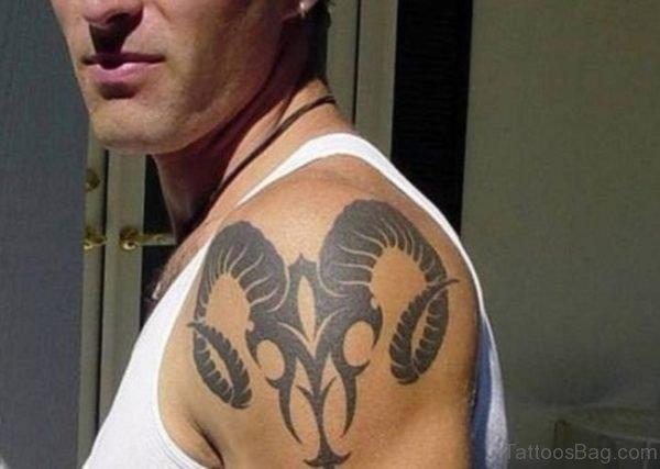 Tribal Horns Tattoo