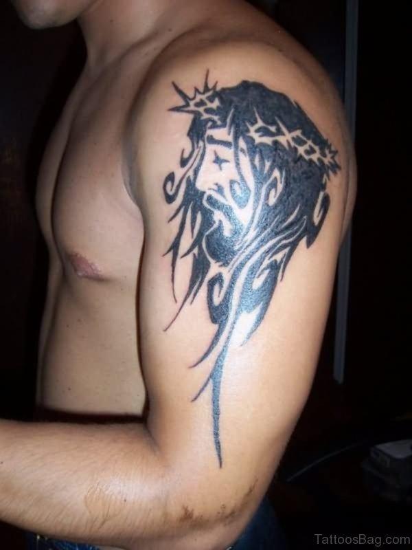 Tribal Jesus Tattoo