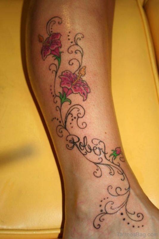 Tribal Leg And Foot Tattoo Designs
