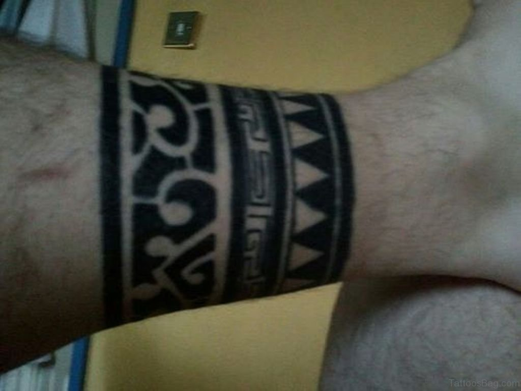 108 great looking tribal tattoos on leg for Thigh band tattoo
