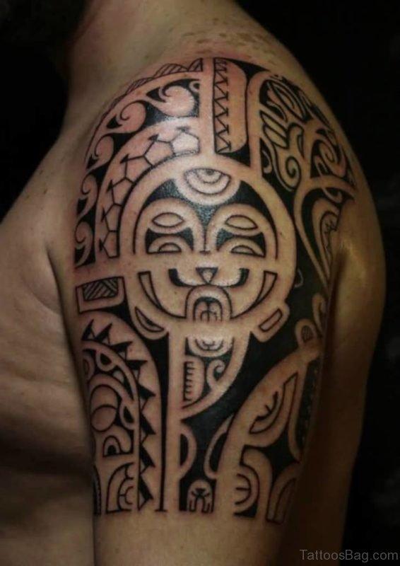 Tribal Mask Tattoo Design