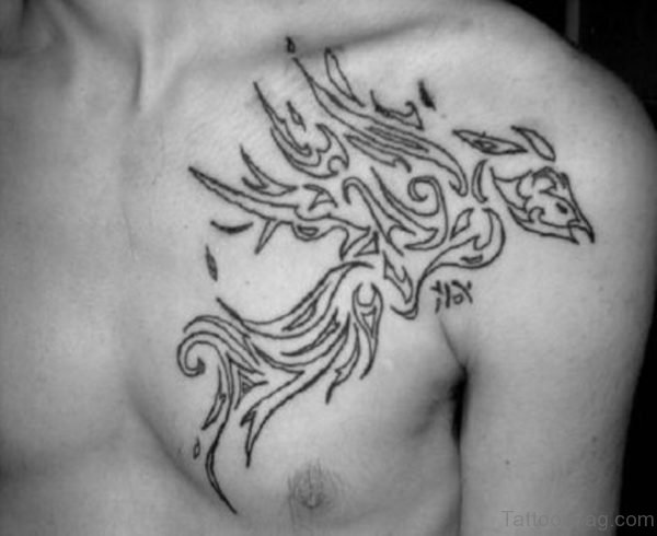 Tribal Phoenix Tattoo Design