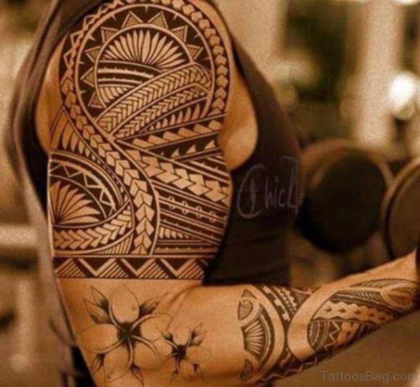 Tribal Polynesian Tattoo Shoulder