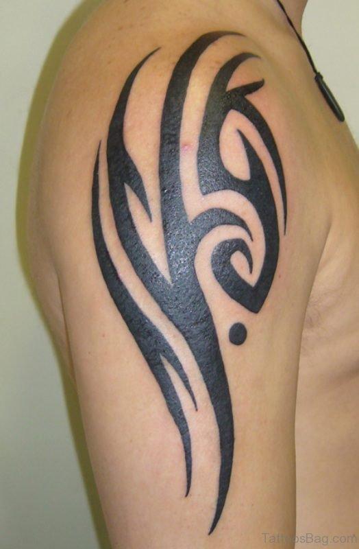 Tribal Tattoo Design On Shoulder