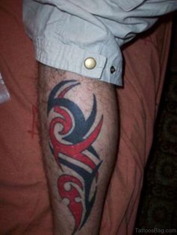 Tribal Tattoo Design for Leg