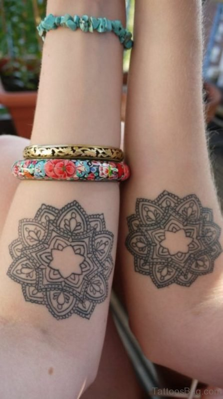 Twin Mandala Arm Tattoo Design