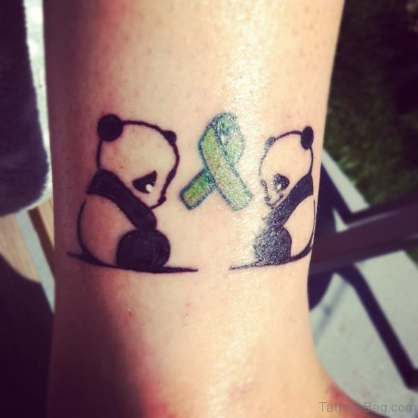Two Cute Panda Tattoo On Wrist