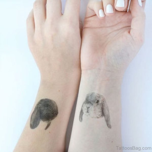 Two Rabbit Tattoo On Wrist
