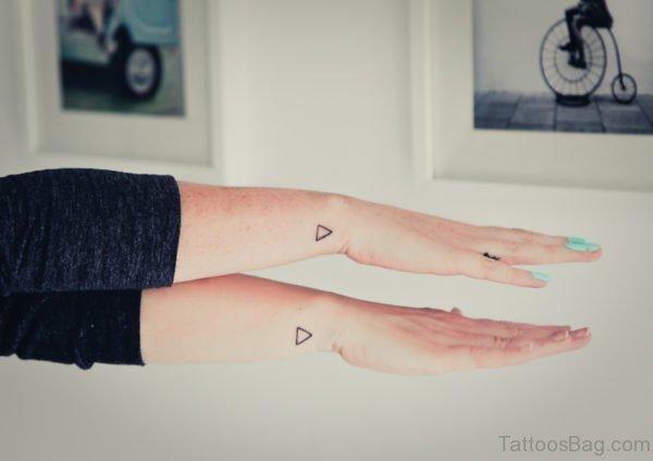 Two Tiny Triangle Tattoo On Wrist