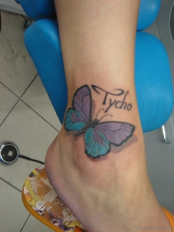 Tycho Butterfly Tattoo On Ankle