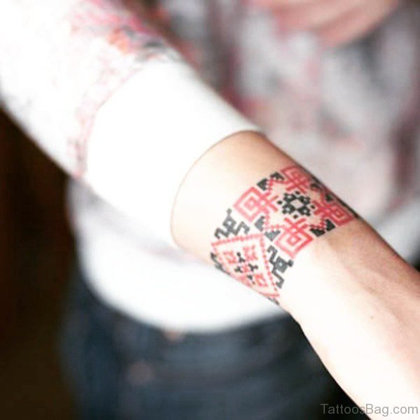 Ukrainian Pattern Tattoo
