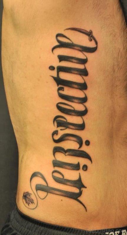 Ultimate Ambigram Tattoo On Rib