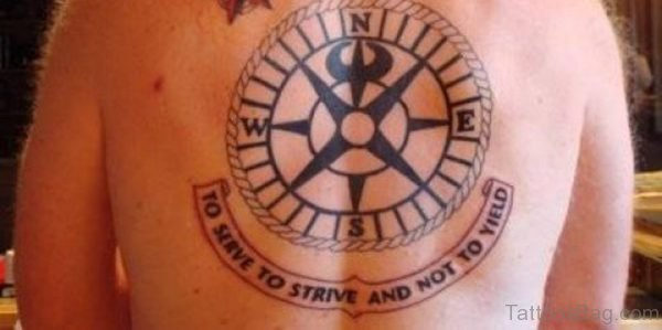 Ultimate Compass Tattoo On Back