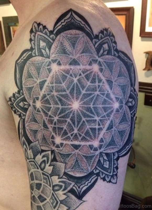 Ultimate Mandala Tattoo On Shoulder