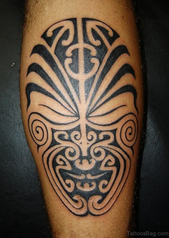 Ultimate Tribal Mask Tattoo