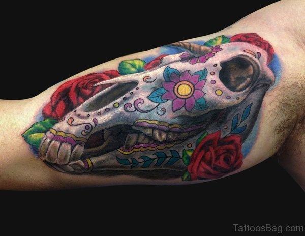 Unicorn Skull Tattoo