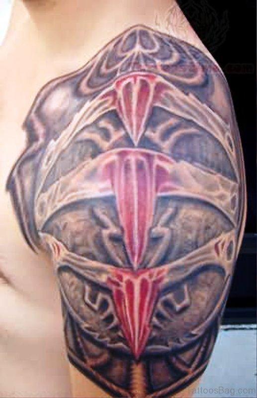 Unique Armor Shoulder Tattoo