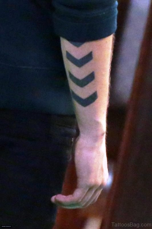 Unique Arrow Tattoo On Arm