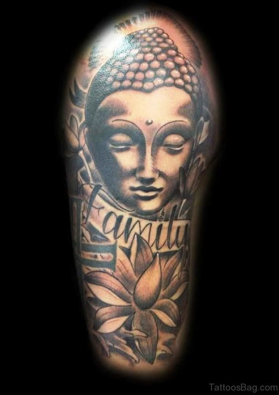 Unique Buddha Tattoo Full Sleeve