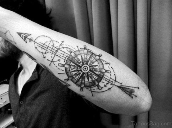 Unique Design Arrow Tattoo On Arm