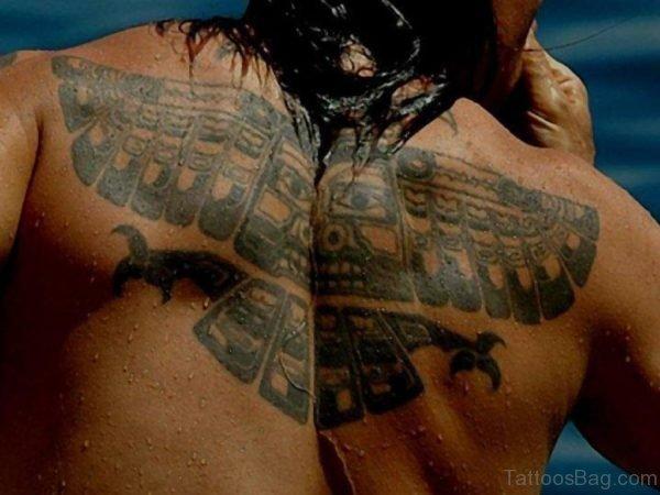 Unique Eagle Tattoo On Back