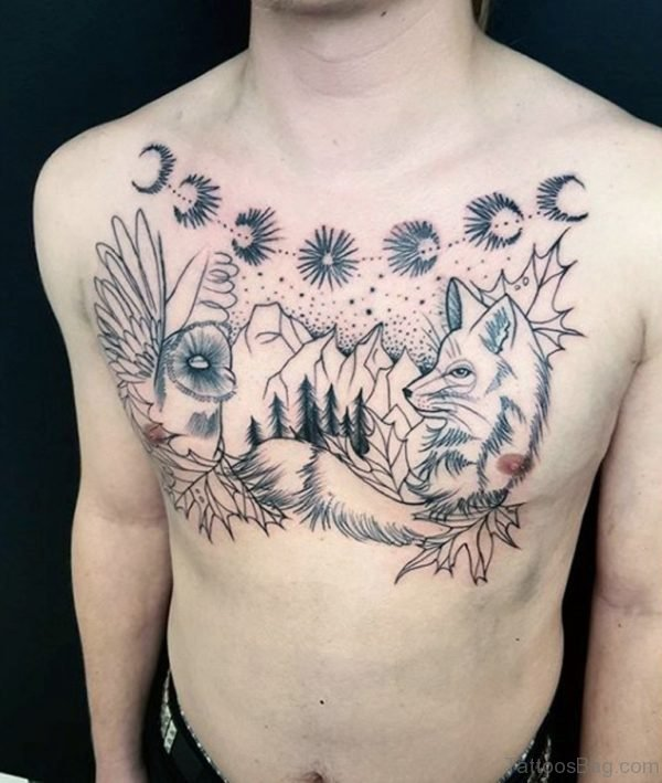 Unique Fox Tattoo