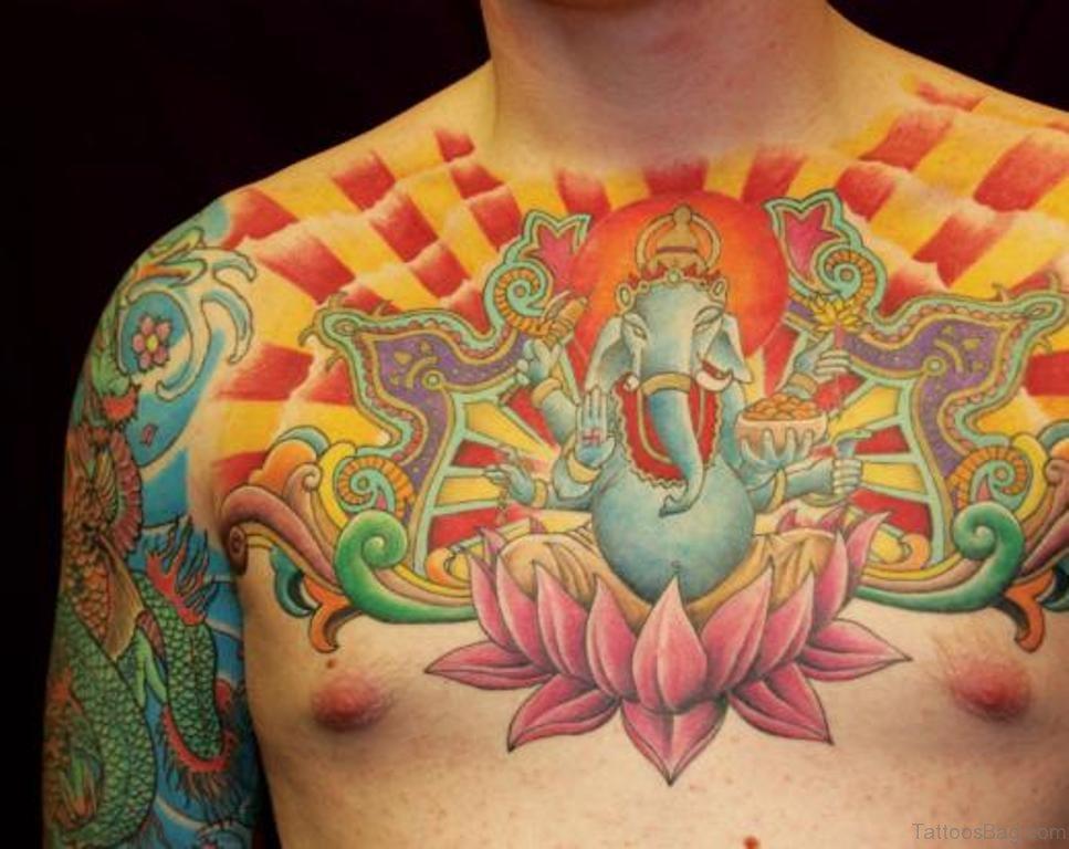 50 Beautiful Lotus Tattoos On Chest